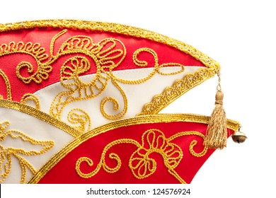 Carnival hat in front of white background