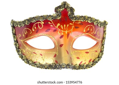 Carnival mask Christmas New year Venetian white background isolated object