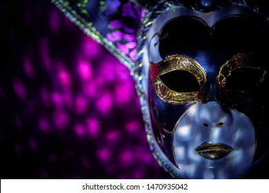 Carnival Mask with dramatic lighting