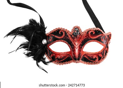 Carnival mask isolated on a white background.