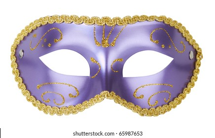 Carnival mask isolated on white background with clipping path
