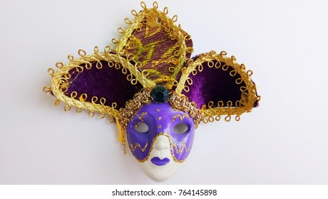 Carnival mask isolated on white background .