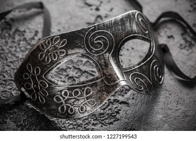Carnival mask on a black background. Masquerade