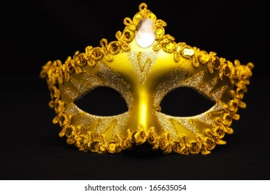 Carnival mask on a black background, Carnival mask, photography