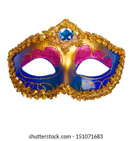 Carnival mask on white