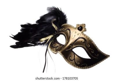 Carnival mask on white background