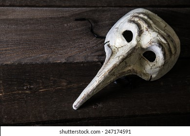 Carnival mask plague doctor