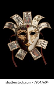 Carnival Mask from Venetian Carnival isolated on black