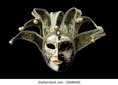 Carnival Mask from Venice Italy isolated on black