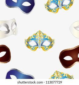 Carnival masks seamless pattern