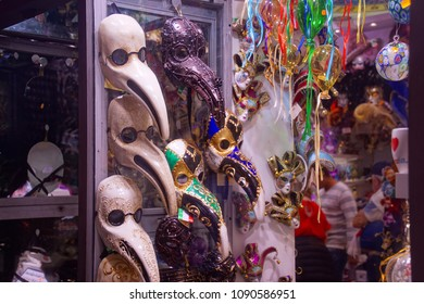 Carnival masks for tourists in Venice, Italy