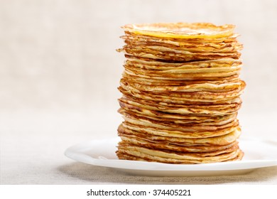 Carnival. Pancakes. Image in a rustic style. Selective focus.