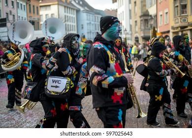 Carnival parade on 18.02.2017 in Schaffhausen, Switzerland