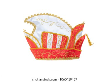 Carnival prince hat isolated on white background