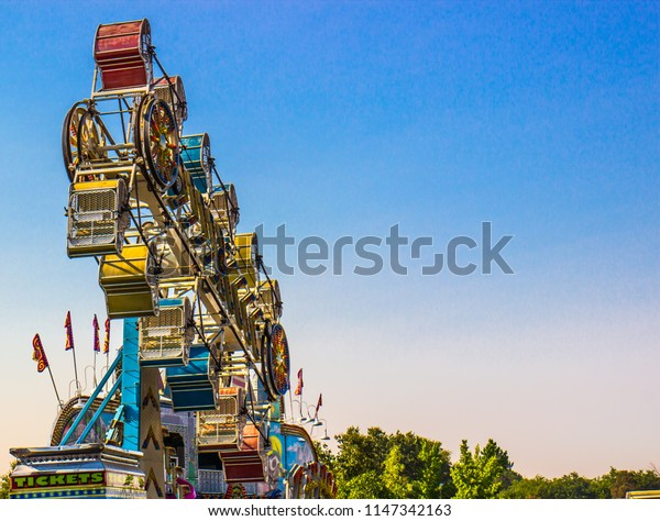 Carnival Ride At Local County Fair