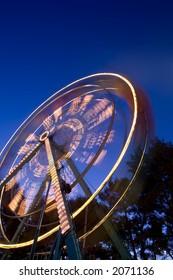 carnival ride shot in motion
