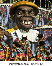 CARNIVAL RIO DE JANEIRO - FEBRUARY 19: Samba School parade float at the Sambadome February 19, 2012 in Rio de Janeiro, Brazil. The Rio Carnival is the biggest carnival in the world.