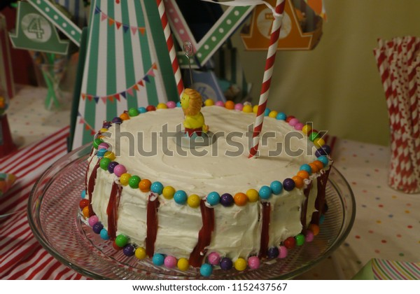 Marvelous Carnival Themed Birthday Cake Stock Photo Edit Now 1152437567 Personalised Birthday Cards Paralily Jamesorg