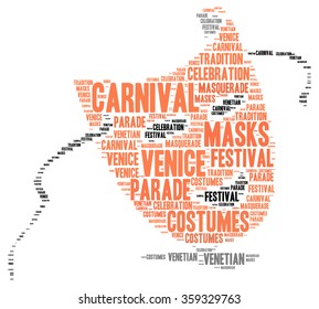 Carnival of Venice in Italy word cloud