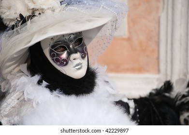 Carnival woman with feathers