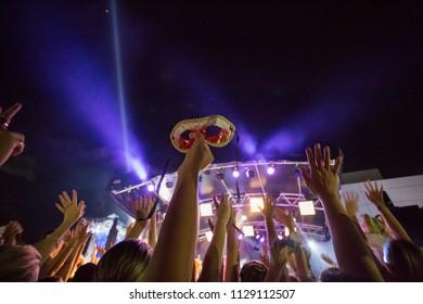 carnivale night concert crowd