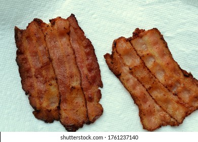 """Carnivore """"Bread Slices"""" made with overlapping bacon slices; suitable for a low carbohydrate, ketogenic or carnivore diet."""