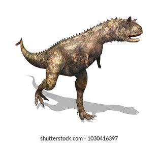 The Carnotaurus was a dinosaur that lived during the Cretaceous period - 3D render.