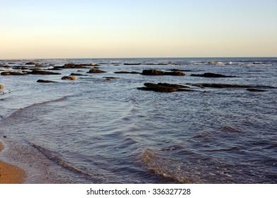 Carnoustie beach rocks