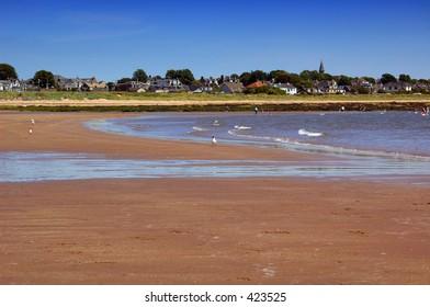 carnoustie beach, scotland