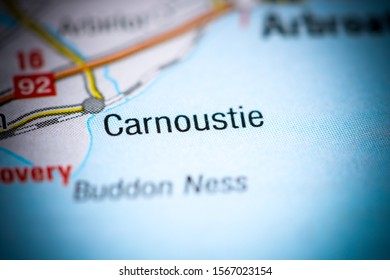 Carnoustie. United Kingdom on a map