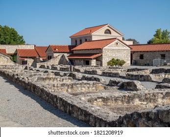 CARNUNTUM, AUSTRIA - 09/15/2020: The rebuild roman city - Carnuntum in Altenburg near Vienna.
