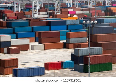 Caro container shipping yard