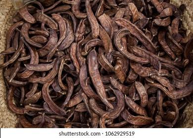 carob or dried beans