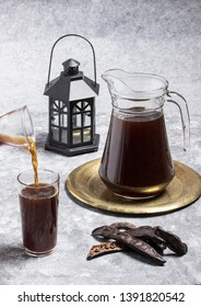 Carob juice (Sharab al-kharroub), Ramadan drinks.