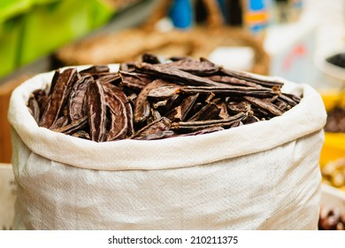 Carob pods on sale in the market