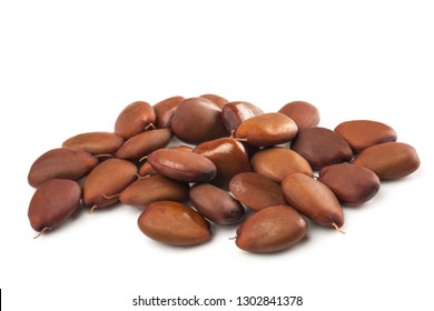 Carobs  beans isolated on white background