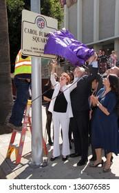 Carol Burnett at the unveiling of Carol Burnett Square at Selma and Highland in Hollywood, 04-18-13