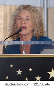 Carole King at the Carole King Hollywood Walk Of Fame Ceremony, Hollywood, CA 12-03-12