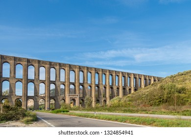 The Caroline Aqueduct by Vanvitelli, the aqueduct created to feed the San Leucio complex and which also provides water supply to the Royal Palace of Caserta, Italy