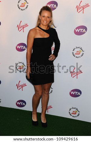0314d13f751 Caroline Wozniacki arriving for the 2012 WTA Pre-Wimbledon Party at the  Roof Gardens in