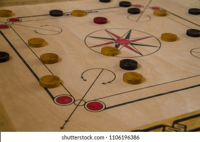 Carom board game - Selective focus