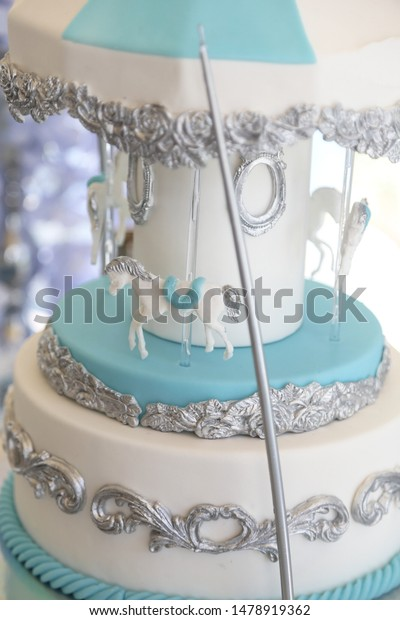 Remarkable Carousel Birthday Cake Fondant Stock Photo Edit Now 1478919362 Funny Birthday Cards Online Inifodamsfinfo