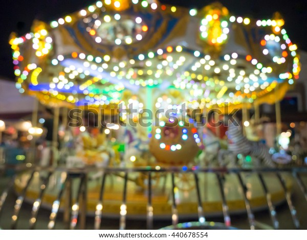 carousel blur background