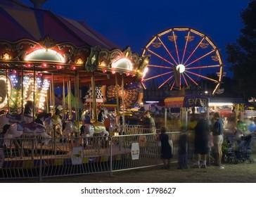 Carousel at the Fair Motion Blur Long Exposure
