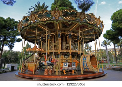 Carousel in French Riviera, Nice, France