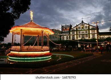 Carousel in front of the church
