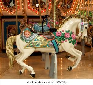 Carousel horse, full view