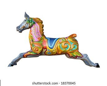 A Carousel Horse from a Fun Fair Ride.