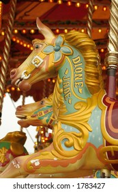 Carousel Horse restored into its beautiful condition