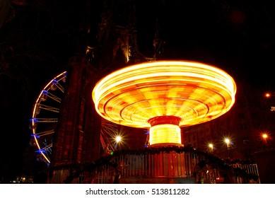 Carousel at nigh during Edinburgh fair